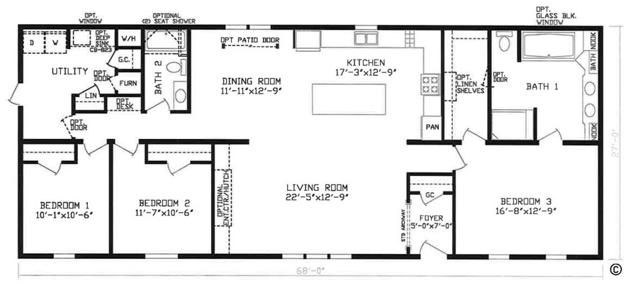 Sea Island Home Floor Plan